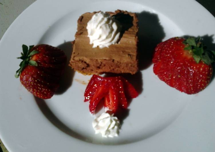 "Ladybirds ""OMG To Good"" Chocolate Mousse Slice !"