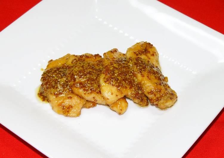 Sautéed Chicken Breast with Grainy Mustard Sauce