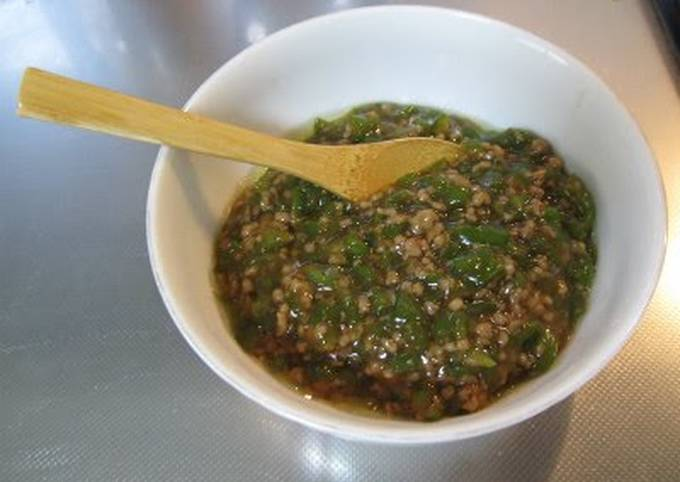 Green Pepper & Ground Meat Rice Topping
