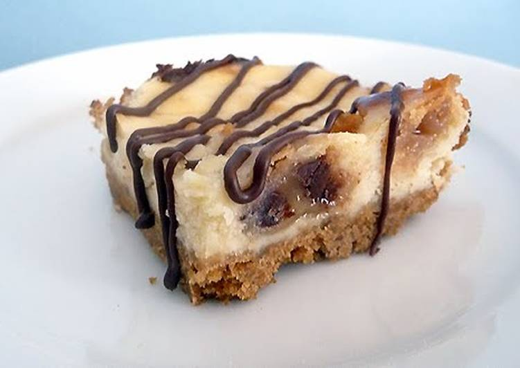 Steps to Prepare Quick chocolate chip cookie cheesecake bars