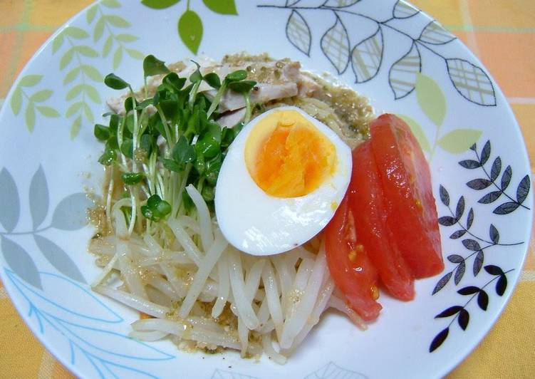 Light & Refreshing Chilled Chinese Noodles with a Salt-based Sauce - Laurie G Edwards