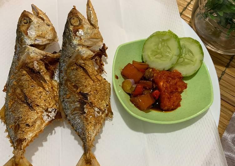 Ikan kembung goreng simple