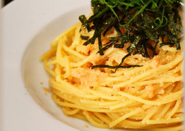 Easiest Way to Prepare Favorite Easy Japanese-Style Mentaiko Pasta - Try It For Lunch!