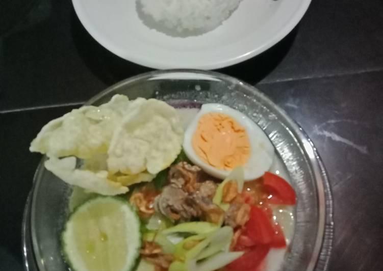 Soto Daging susu ala soto Betawi