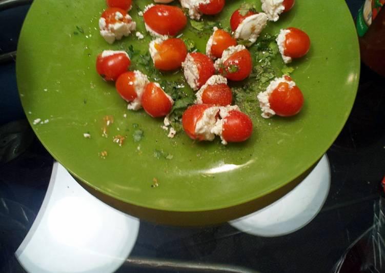 Simple Way to Prepare Favorite Stuffed cherry tomatoes