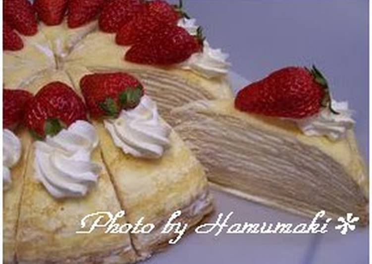 Simple Way to Prepare Award-winning Layered Milk Crepe Cake