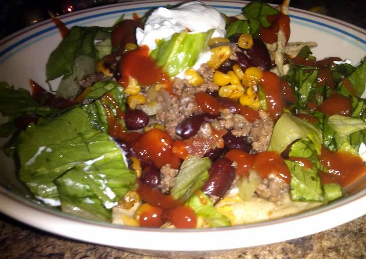 loaded taco salad