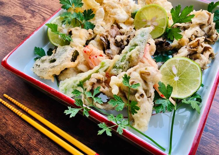 How to Make Favorite Garlic Mayonnaise Vegetables Tempura