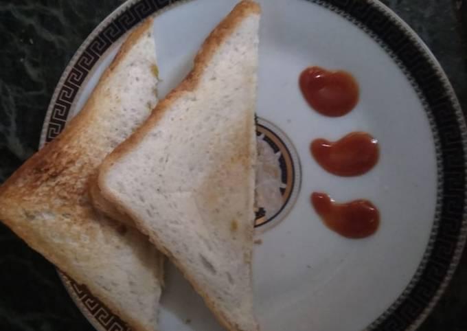 Grilled cheese potato sandwich