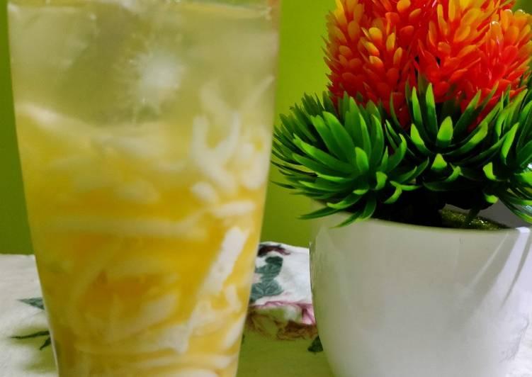 5. Es jeruk madu kelapa KW