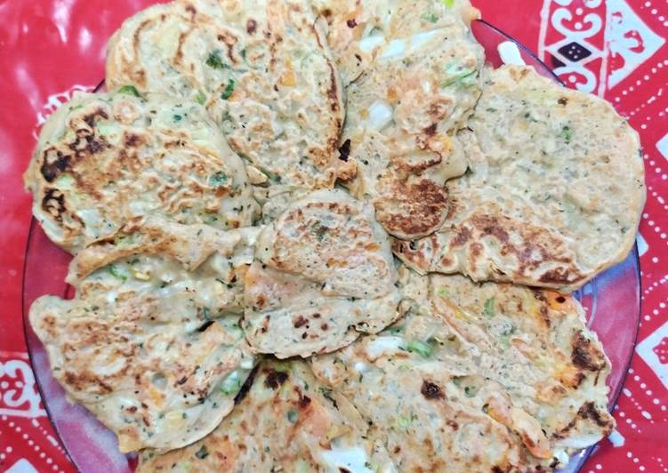 Bakwan sayur (ote-ote) sayur untuk diet. Less oil, gluten free