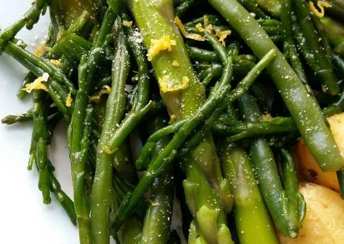 Vickys Bean, Asparagus and Samphire Salad