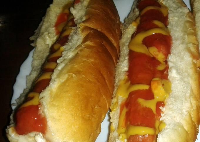 Homemade hotdogs