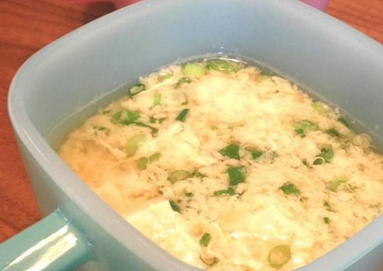 Egg Soup with Tofu and Yamaimo