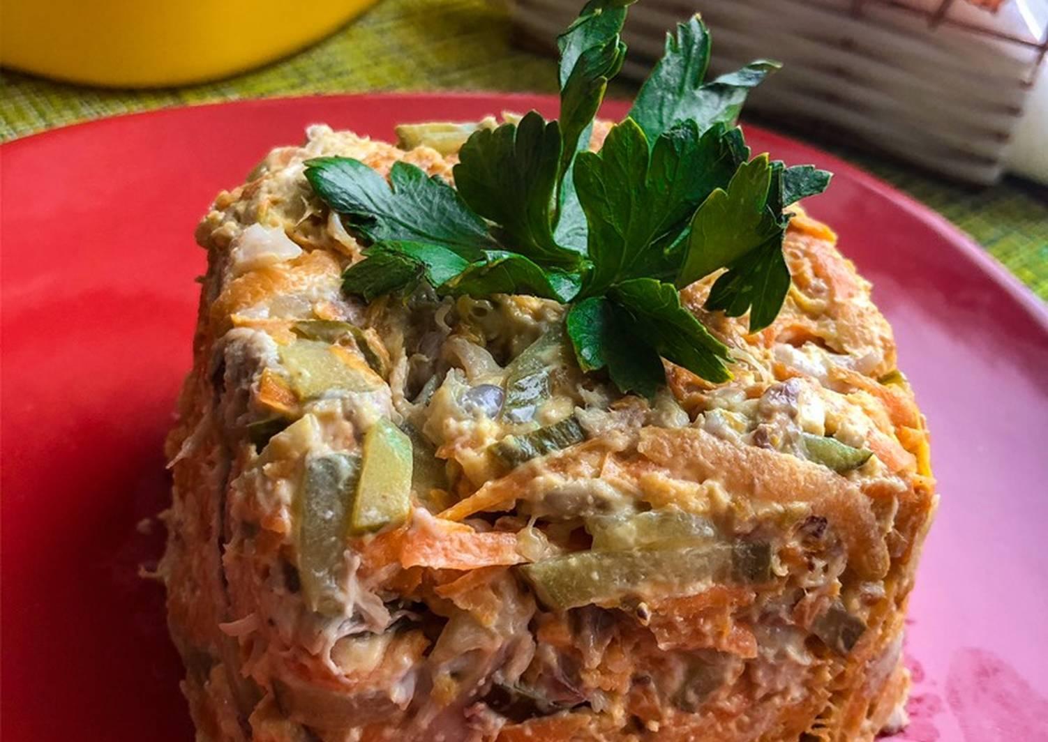 рецепты сытных салатов с фото смесь навыков способностей
