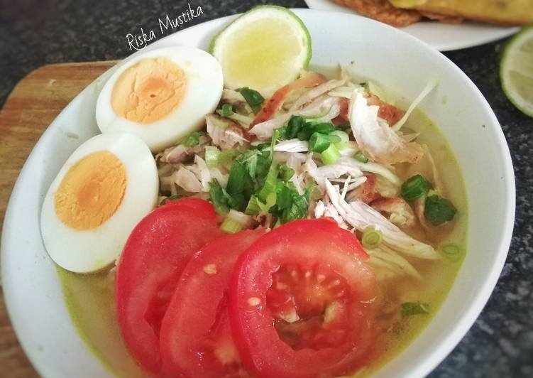 Steps to Prepare Award-winning Soto Ayam (Yellow Chicken Clear Soup)