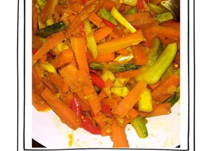 Acar kuning timun wortel (acar penganten) simple🥕🥒 - cookandrecipe.com