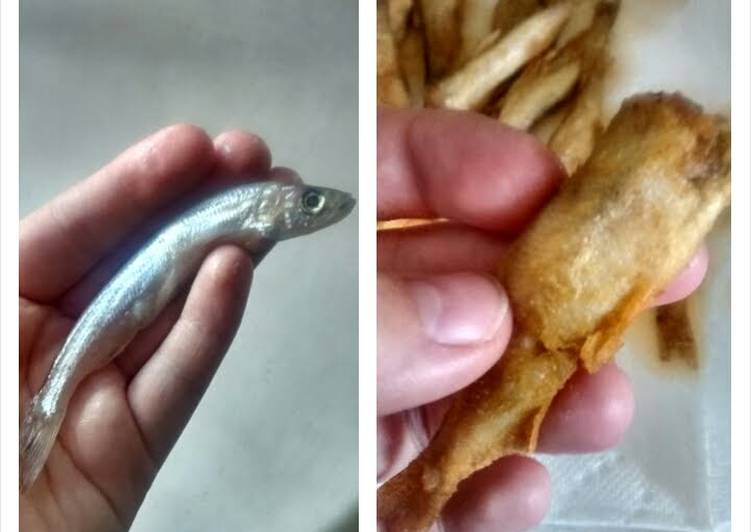 Crispy fried smelts