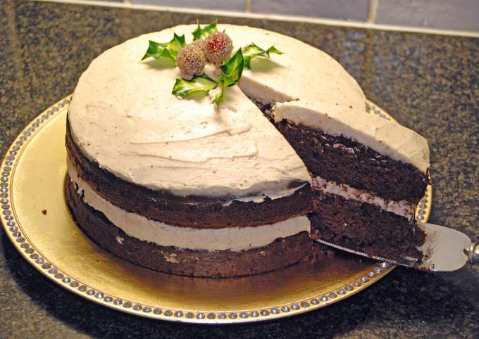 Christmas Mulled Wine Velvet Cake