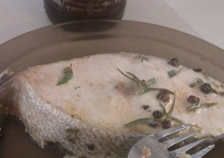 Butter and garlic salmon