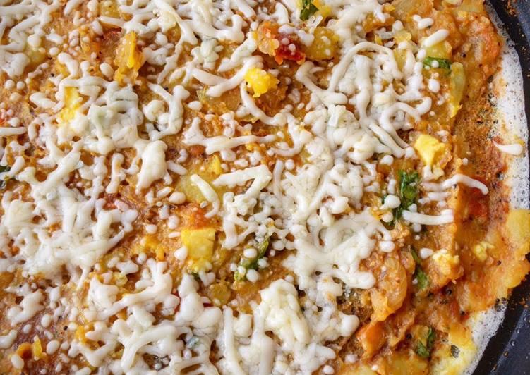 Open Cheese Masala Dosa