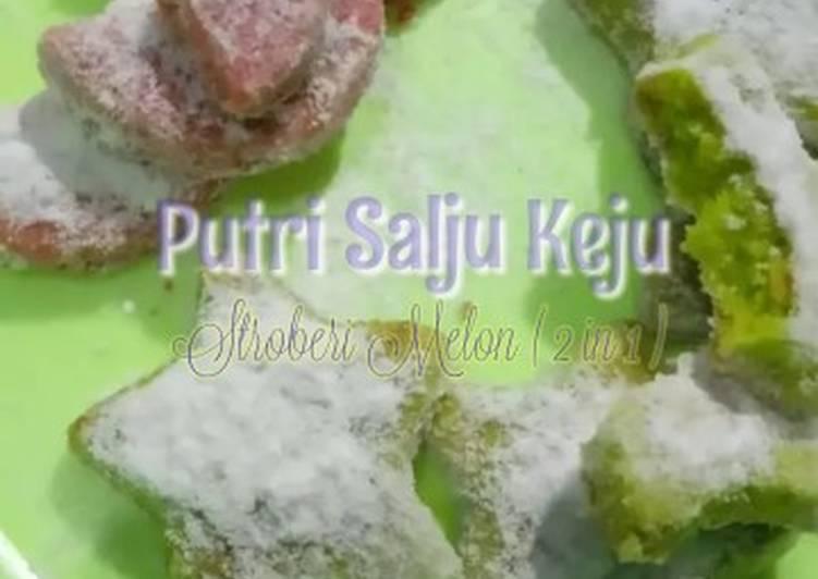 Putri Salju Keju Stroberi Melon (2 in 1)
