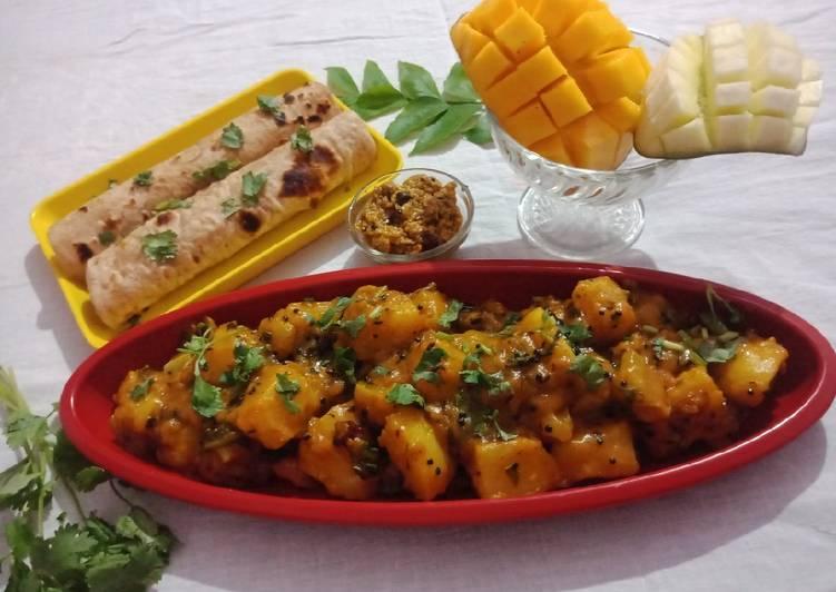 Easiest Way to Prepare Favorite Khatti meethi Aam aloo ki sabji