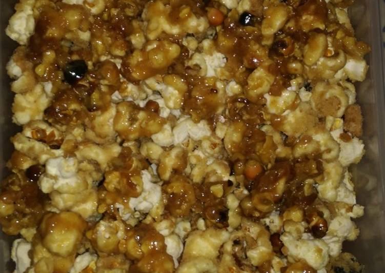 Recipe of Homemade 5 Ingredient Caramel Popcorn