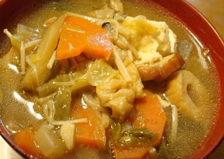 The Foods You Pick To Consume Will Certainly Effect Your Health Kenchin soup in the training (Tofu, Pork, and Vegetable Soup)