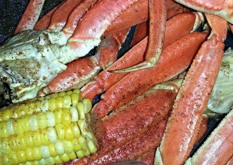 Crab legs w/ Corn & Potatoes