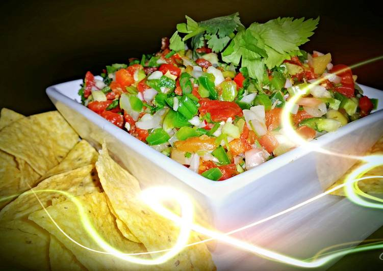 Simple Way to Make Quick Mike's Garlic Salsa Fresca Or Ceviche