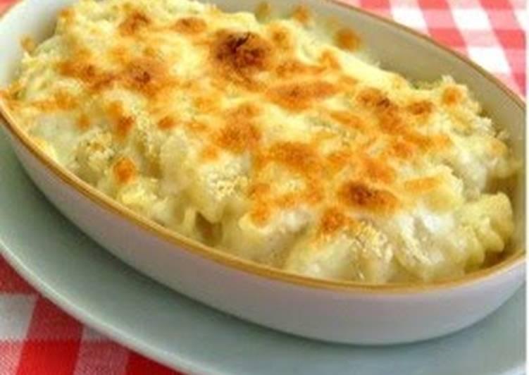 Recipe: Yummy Macaroni Gratin with Soy Milk & Rice Flour