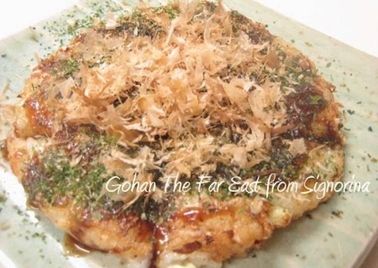 Recipe of Speedy Fluffy and Soft~ Nagaimo Yam and Cabbage Okonomiyaki