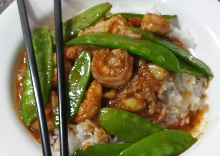 Get Fresh With 🔥Spicy Malaysian Shrimp & Snowpeas