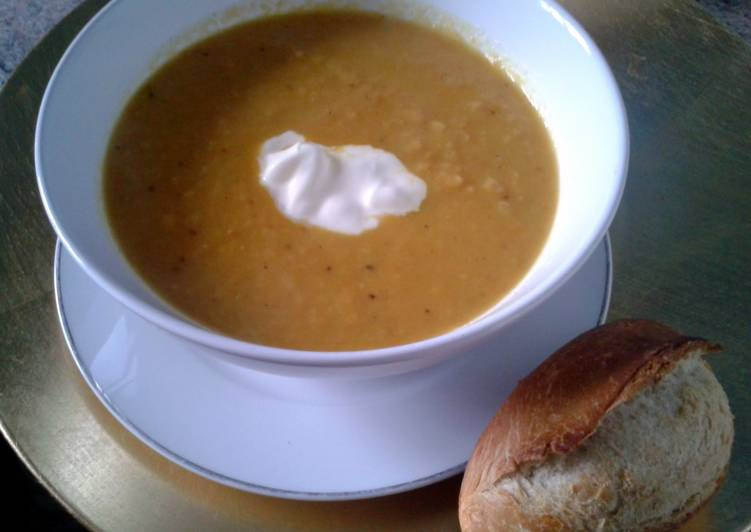 Curried Roasted Root Veg Soup