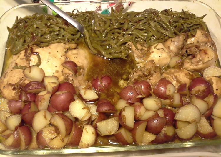 All in one pan Chicken dinner