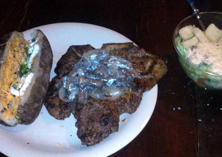 Step-by-Step Guide to Make Speedy T-Bone Steak w/ Mushroom & Onion