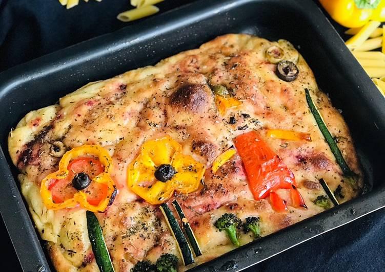 """Recipe of Favorite """"Beetroot Italian Focaccia Bread"""""""