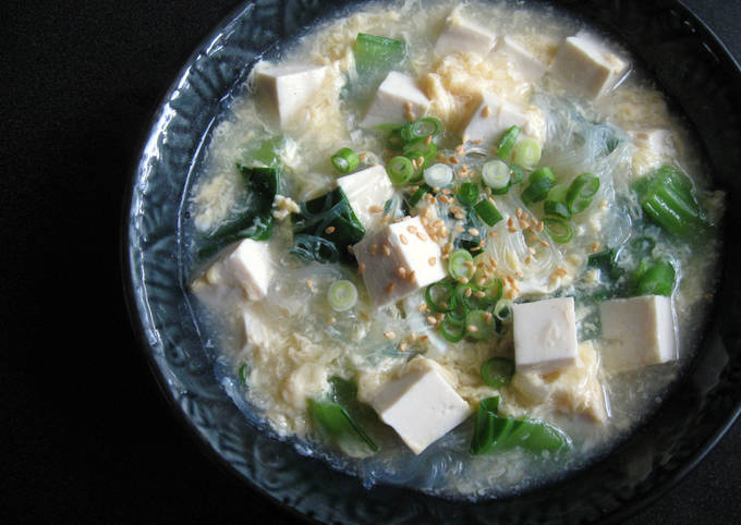 Harusame, Tofu & Egg Soup