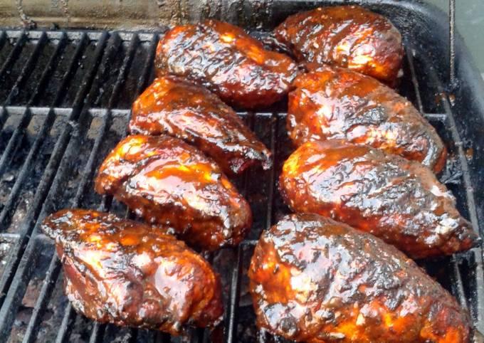 Tandoori bbq grilled chicken breasts