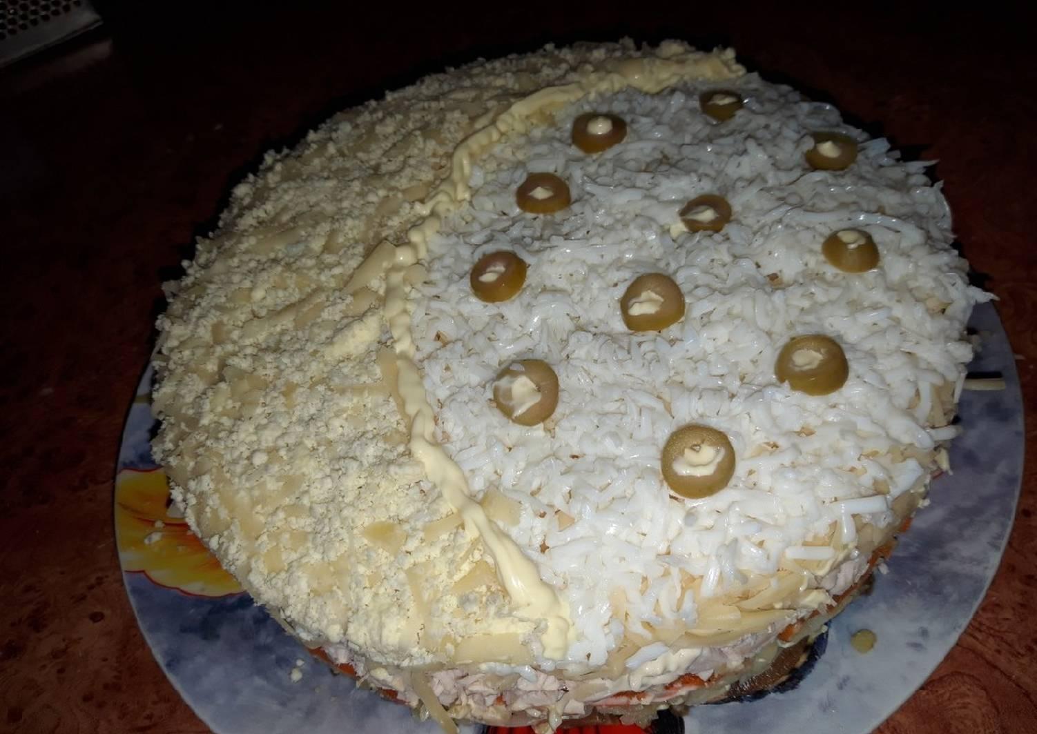 Салат белая ночь рецепт с фото пошагово поможет