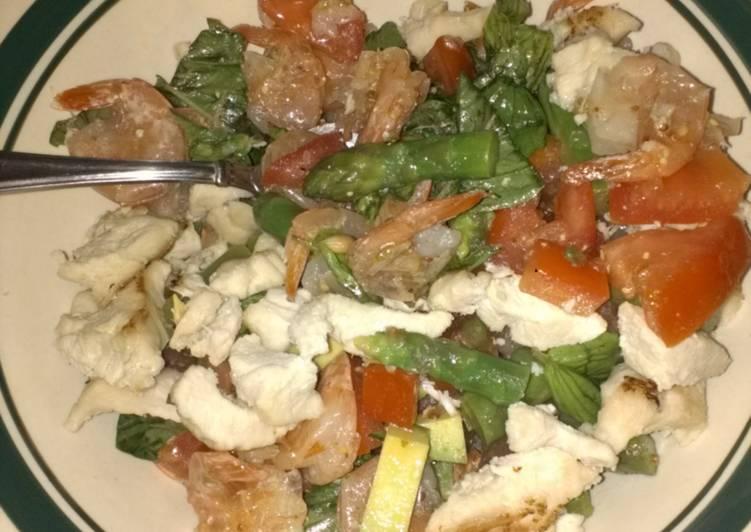 Easiest Way to Make Top-Rated Shrimp, Tomato, Basil Salad