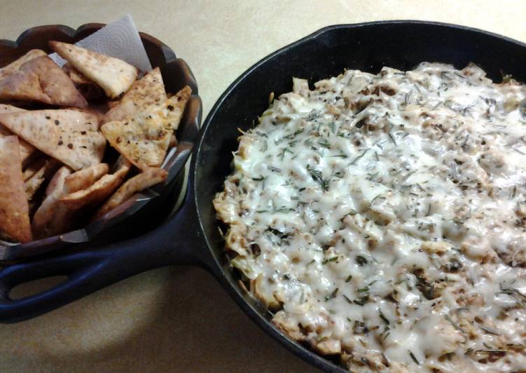Roasted Brussell Sprout and Artichoke Garden Dip