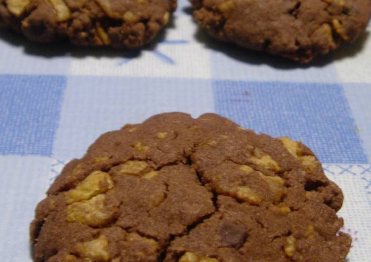 Simple Way to Make Award-winning Chocolate Cookies Crispy with Cornflakes