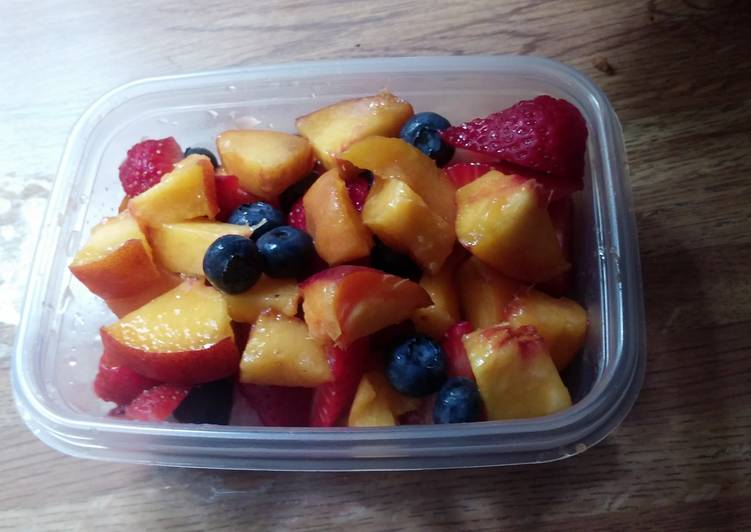 Step-by-Step Guide to Prepare Quick Sweet berries oh my peaches 😮