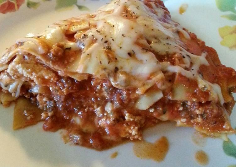Recipe: Delicious Saucy Skillet Lasagna