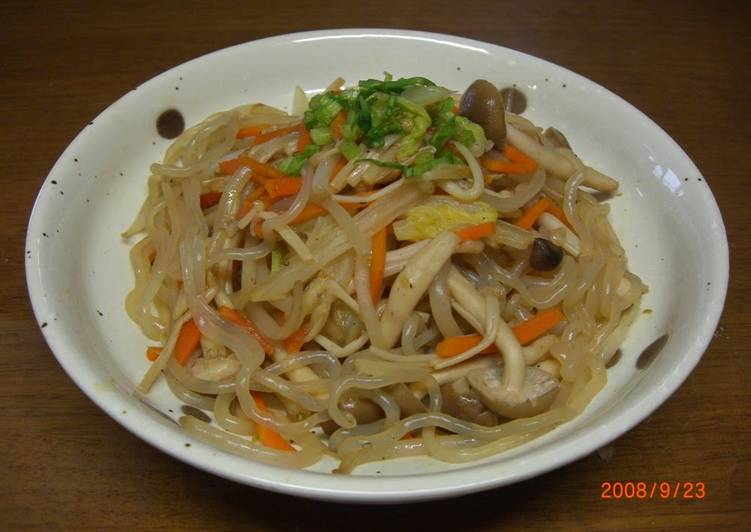 Recipe of Ultimate Stir-Fried and Simmered Vegetables With Mushrooms and Konnyaku