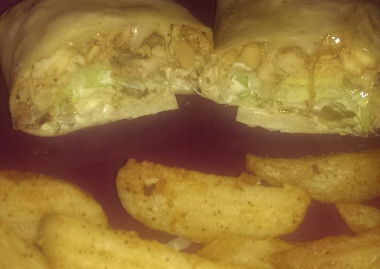 Simple Way to Prepare Award-winning Spicy Chicken Philly wrap