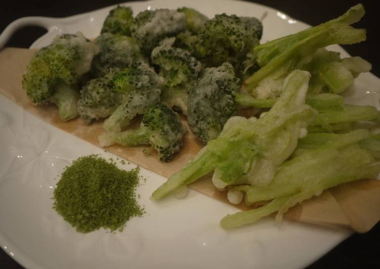 Recipe of Any-night-of-the-week Broccoli Tempura with Matcha Salt