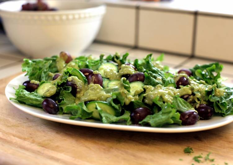 Avocado, Cucumber & Grape Salad